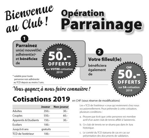 cotisation + parrainage